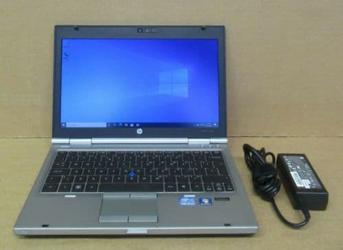 "HP Elitebook 2560p 12.5"" i5-2540M 2.6Ghz 4GB Ram 320GB HDD Win10 Pro Laptop"